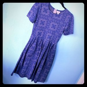 LuLaRoe Amelia Blue Dress